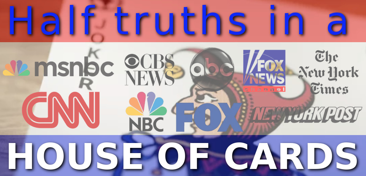 Half truths in a house of cards. cnn lied about rogan taking horse dewormer